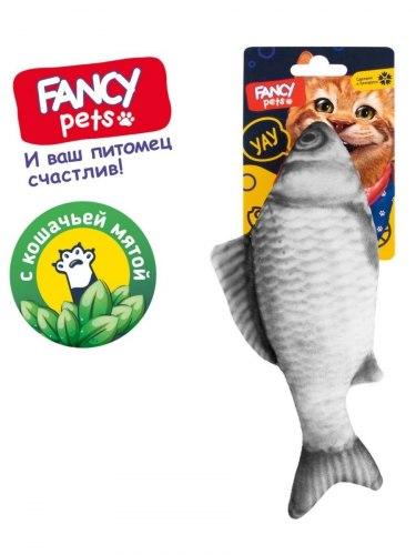 Игрушка FANCY PETS Рыба с кошачьей мятой, 21 см
