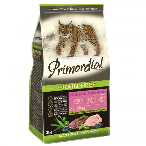 Сухой корм PRIMORDIAL для котят (с уткой и индейкой), НА РАЗВЕС 100г