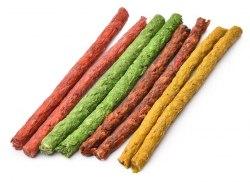 Лакомство For Dogs палочки цветные 12,5см (диам.10мм)