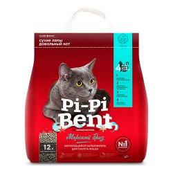 Наполнитель PiPiBent Морской бриз, бентонит 5 кг (12л)