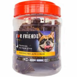 Лакомство For Dogs полоски из мяса утки, 500г