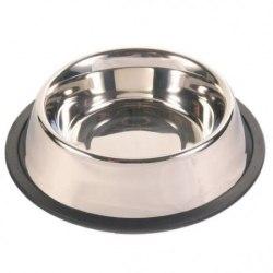 Миска в Наличии TRIXIE из металла для собак с резиновым ободом, 0,7л/диам. 16см
