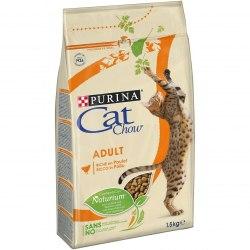 Сухой корм PURINA Cat Chow для взрослых кошек (индейка / курица) - 15 кг