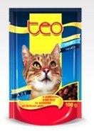 Консерва В НАЛИЧИИ Teo для кошек с говядиной в соусе, 100г