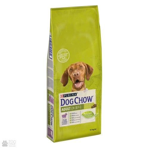 Сухой корм Dog Chow для взрослых собак всех пород с ягненком 14 кг