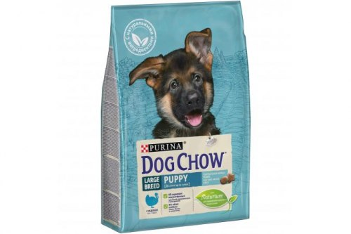 Сухой корм В НАЛИЧИИ PURINA Dog Chow Puppy LARGE BREED с Индейкой - 14 кг