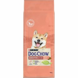 Сухой корм В НАЛИЧИИ PURINA Dog Chow SENSETIVE ADULT с Лососем и рисом - 14 кг