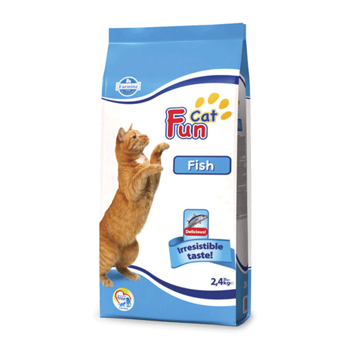 Сухой корм FUN CAT FISH 2,4 кг