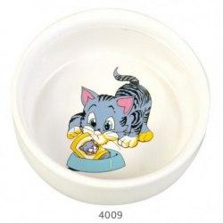 Миска В НАЛИЧИИ TRIXIE керамическая для кошек с изображением 0,3л/диам. 11см
