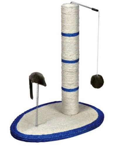 Когтеточка В НАЛИЧИИ TRIXIE в виде столбика с шариком и мышью на пружине, 50 см