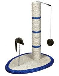 Когтеточка TRIXIE в виде столбика с шариком и мышью на пружине, 50 см