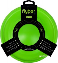 Летающая тарелка Flyber салатовая, диам. 22 см