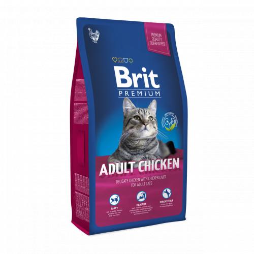 Сухой корм Брит Premium Cat Adult Chicken 8 кг