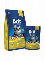 Сухой корм Брит Premium Cat Adult Salmon 8 кг