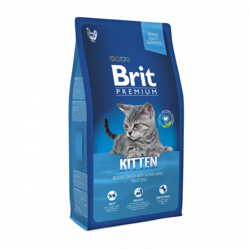 Сухой корм Брит Premium Cat Kitten 8 кг