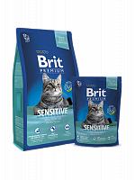 Сухой корм Брит Premium Cat Sensitive 0,3 кг