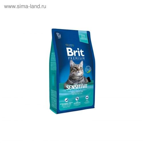Сухой корм Брит Premium Cat Sensitive 8 кг