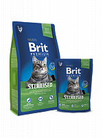 Сухой корм В НАЛИЧИИ Брит Premium Cat Sterilised 1,5 кг