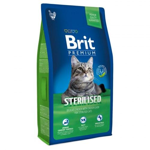 Сухой корм Брит Premium Cat Sterilised 8 кг