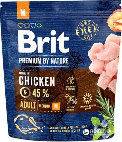 Сухой корм Брит Premium by Nature Adult M 1 кг
