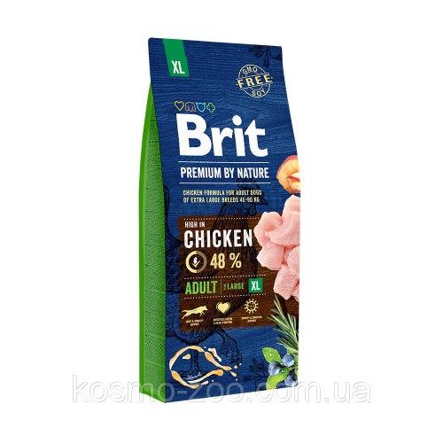 Сухой корм Брит Premium by Nature Adult XL 15 кг