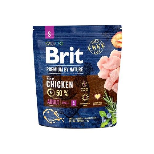 Сухой корм Брит Premium by Nature Adult S 1 кг
