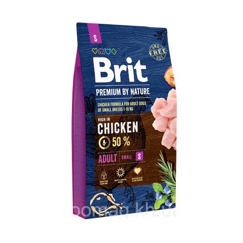 Сухой корм Брит Premium by Nature Adult S 8 кг