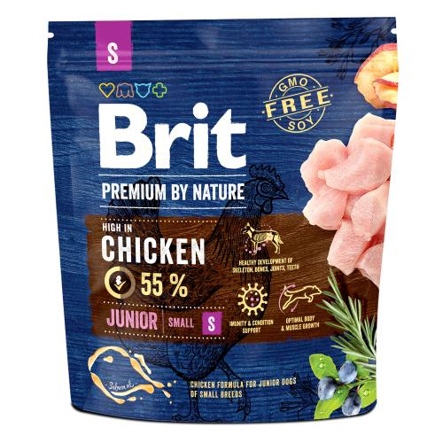 Сухой корм Брит Premium by Nature Junior S 1 кг