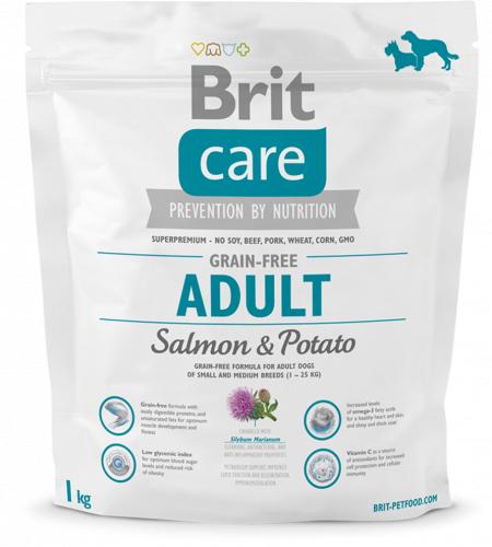 Сухой корм Брит Care Salmon &Potato Adult 1 кг