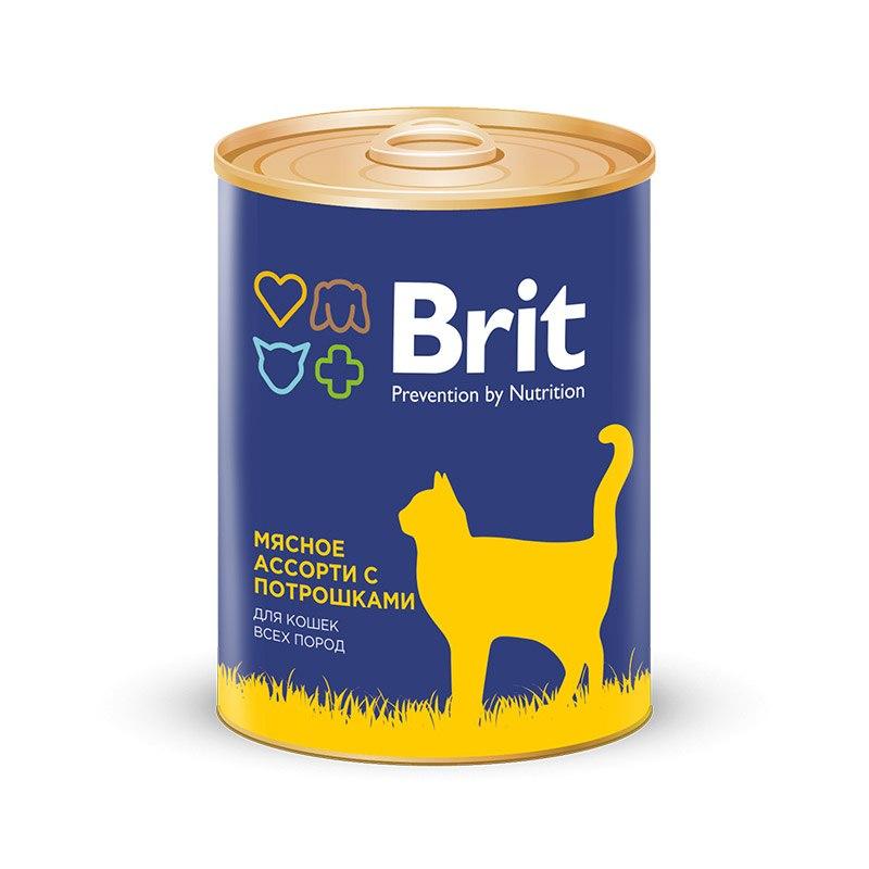 Корм Brit мясное ассорти с печенью 340g 9426
