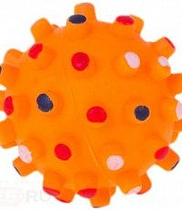 Игрушка В НАЛИЧИИ мячик в точку с пищалкой для собак, d=6,5 см