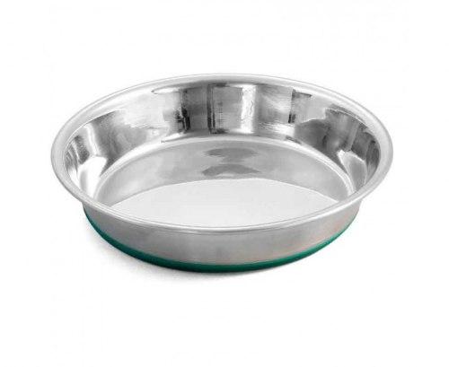 Миска-блюдце Triol металлическая, резиновое основание, утяжеленная 0,35л