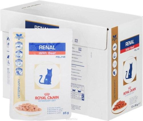 Консерва В НАЛИЧИИ Royal Canin RENAL FELINE BEEF 1шт/85г