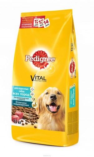 Сухой корм Pedigree® Для взрослых собак всех пород с говядиной 13 кг.