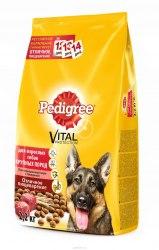 Сухой корм Pedigree® Для взрослых собак крупных пород с говядиной 13 кг