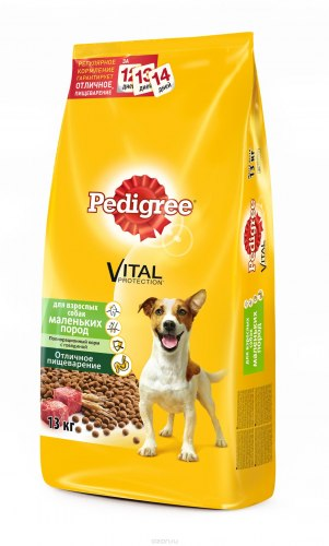 Сухой корм Pedigree® Для взрослых собак маленьких пород с говядиной 13 кг