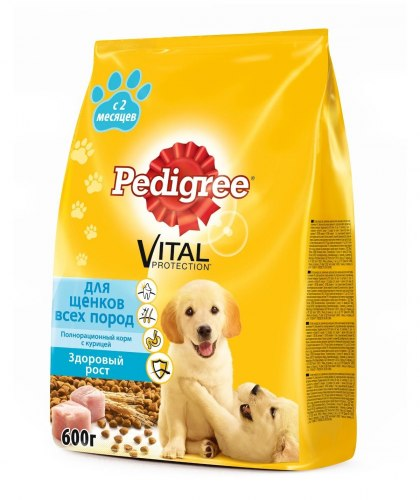 Сухой корм Pedigree® Для щенков всех пород с 2 месяцев с курицей 13 кг