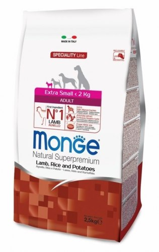 Сухой корм Monge X. SMALL ADULT LAMB/RICE 2,5 кг