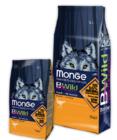 Сухой корм Monge Dog BWILD Ostrich 15кг