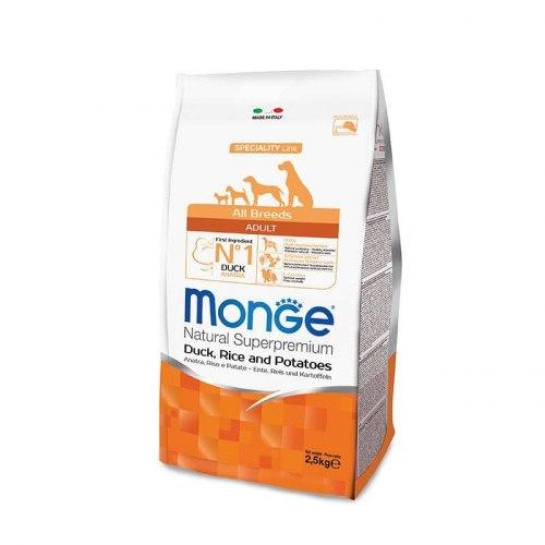 Сухой корм В НАЛИЧИИ Monge Dog PFB Speciality Duck&Rice, Patato 26/16 2,5 кг