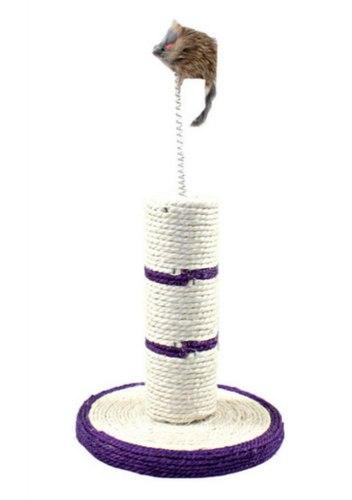 Когтеточка В НАЛИЧИИ Triol из сизаля Столбик с мышкой на пружине, d210*210