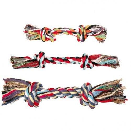 Игрушка В НАЛИЧИИ TRIXIE DENTAfun в виде веревки с двумя узлами, хлопковая 125г/26см