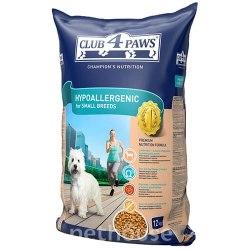 Сухой корм Клуб 4 Лапы для взр собак МАЛЫХ ПОРОД с ягнёнком и рисом гиппоаллергенный 12 кг