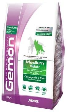 Сухой корм Gemon Dog Medium Adult Lamb&Rice 24/12, 3кг