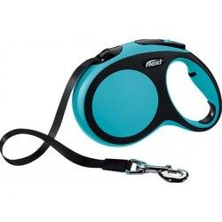 Поводок-рулетка В НАЛИЧИИ Flexi New Comfort, ременной синий L до 60кг/5м