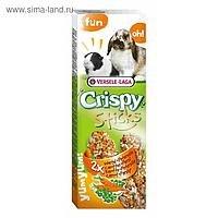Палочки-лакомства В НАЛИЧИИ Crispy для кроликов и морских свинок с морковью и петрушкой, 110г