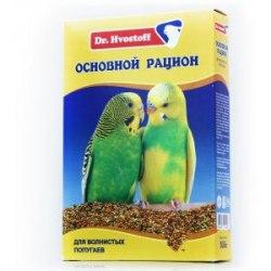 Корм В НАЛИЧИИ Dr.Hvostoff для волнистых попугаев, 500г