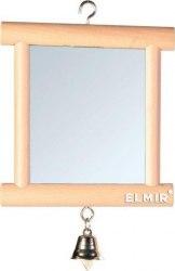 Игрушка В НАЛИЧИИ TRIXIE зеркальце с колокольчиком,деревянное 9*10 см
