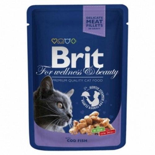 Консерва В НАЛИЧИИ Брит треска для кошек, 100г