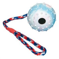Игрушка В НАЛИЧИИ TRIXIE для собаки каучуковый мячик на веревке, диам. 6см/30см